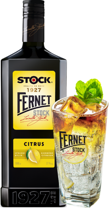 Fernet Stock Citrus 27% 1,00 L