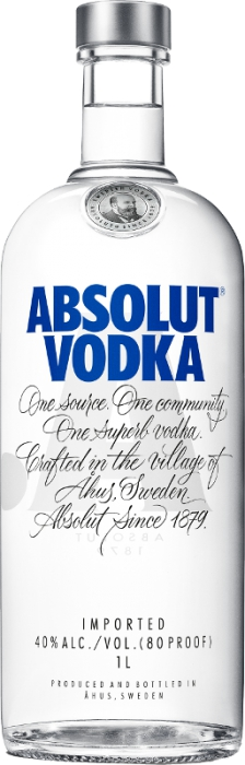 Absolut vodka 40% 1,00 L