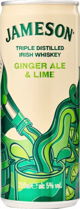 Jameson Ginger Ale & Lime 5% 0,25 L