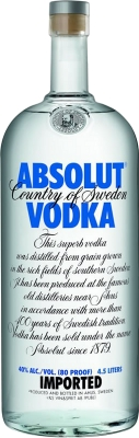 Absolut vodka 40% 4,50 L