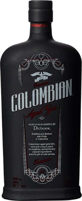 Dictador Colombian Aged Black Gin 43% 0,70 L
