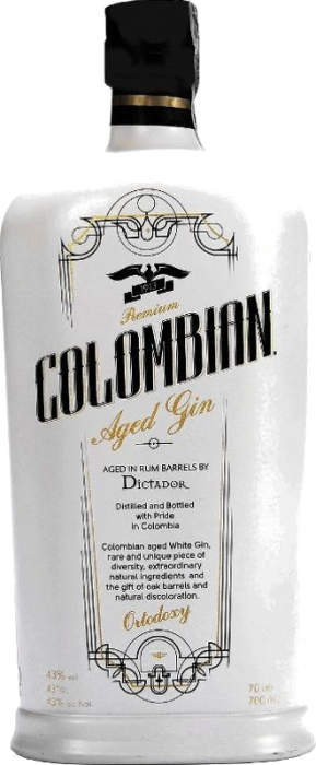 Dictador Colombian Aged Gin White 43% 0,70 L