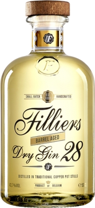 Filliers 28 Dry Barrel Aged Gin 43,7% 0,50 L