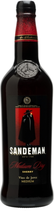Sandeman sherry medium 15% 0,75 L