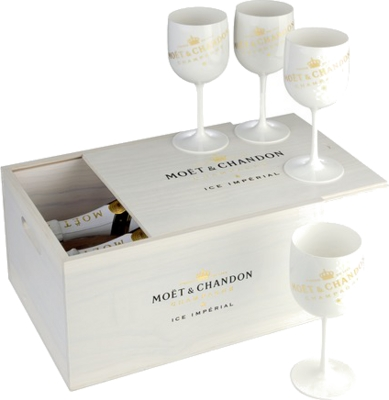 Moet & Chandon Ice Impérial Box (2x 12% 0,75 L + 4 poháre)