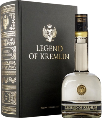 Legend of Kremlin Vodka 40% 0,70 L KNIHA