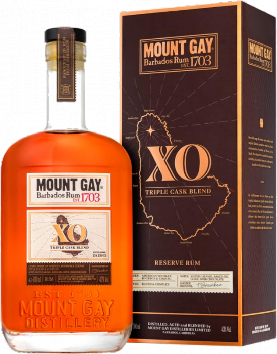Mount Gay Rum XO (Extra Old) 43% 0,70 L