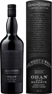Nights Watch & Oban Bay Reserve-Game of Thrones 43% 0,70 L
