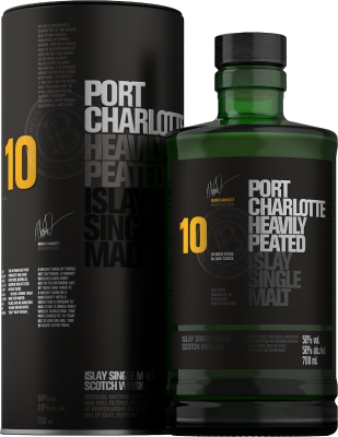 Bruichladdich Port Charlotte Heavily Peated 10YO 50% 0,70 L