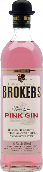 Broker´s Pink Gin 40% 0,70 L