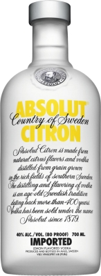 Absolut Citron 40% 0,70 L