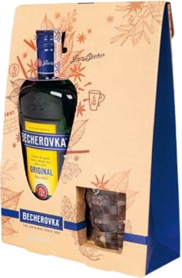 Becherovka 38% 0,70 L + 1x Glass Mug