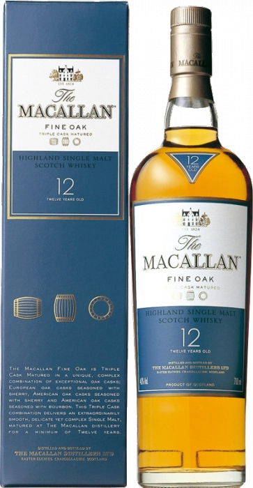 Macallan Fine Oak 12YO 40% 0,70 L